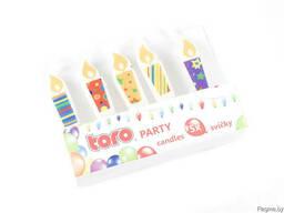 """Набор свечей для торта """"Свеча"""" 5 шт. 1*4 см"""