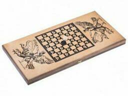 Нарды средние Бухарские с деревянными шашками сувенирные