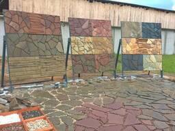 Натуральный камень (песчаник, плитняк, известняк, сланец)
