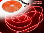 Неоновая светодиодная лента Neon Flexible Strip с контроллером / Гибкий неон 5 м. Красный - фото 8