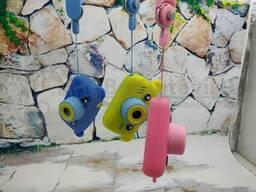 Детский фотоаппарат Zup Childrens Fun Camera со встроенной памятью и играми Заяц Розовый