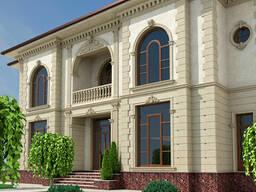Облицовка фасада Травертином (натуральный камень)