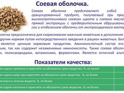Оболочка соевая гранулированная производства РБ