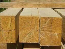Обрезной материал из хвои, сорта 1и 2 (брус строительный)