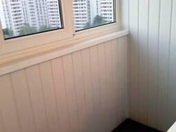 Обшивка балкона и лоджии панелями пвх и вагонкой. - фото 3