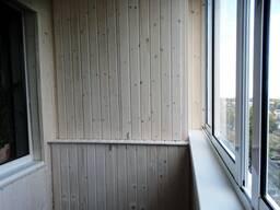 Обшивка балкона и лоджии панелями пвх и вагонкой. - фото 4