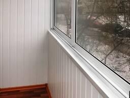 Обшивка балкона и лоджии панелями пвх и вагонкой. - фото 6