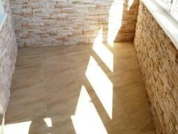 Обшивка балкона под ключ, утепление, шкафы, свет