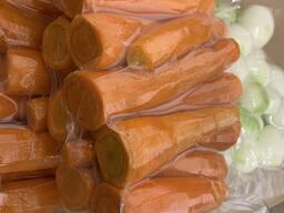 Очищенные овощи в вакуумной упаковке