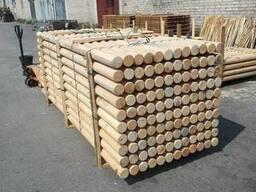 Оцилиндрованая древесина хвойных пород (сосна) Д 40-100 мм.