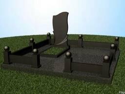 Ограда на кладбище из полимербетона