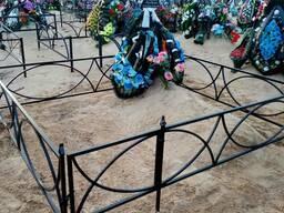 Ограда могильная с полукольцами!