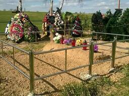 Ограды на могилу из нержавейки в Минске