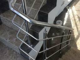 Ограждения для лестниц из нержавейки - фото 1
