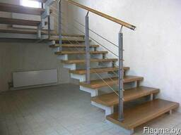 Ограждения для лестниц из нержавейки - фото 5
