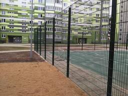 Ограждение для спортивных площадок. Забор 3д