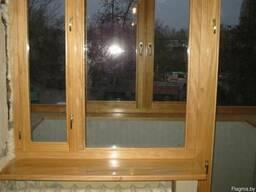 Окна и балконные рамы из дерева.
