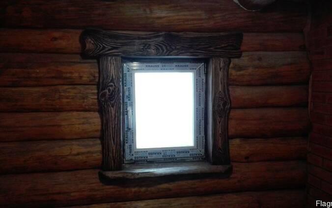 Окна в предбанник , баню
