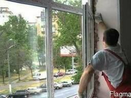 Окна ПВХ балконные рамы из алюминия и ПВХ с установкой.