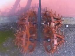 Окучник-культиватор роторный двойной для трактора, минитрактора