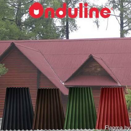 Ондулин Еврошифер красный, доборные элементы, доставка