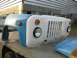 Оперение ГАЗ-53 в сборе (без радиатора, с капотом)