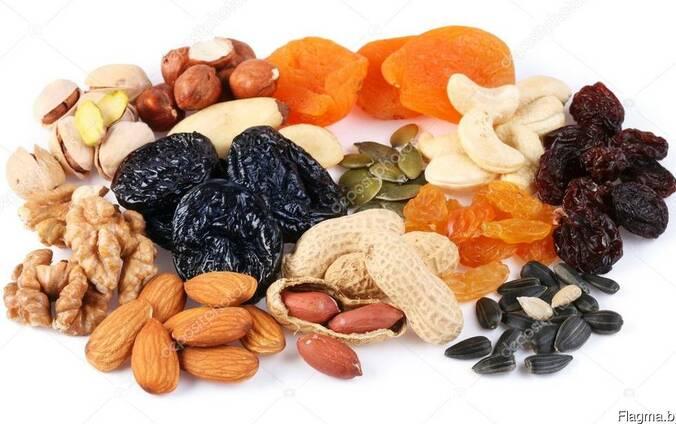 Орехи, сухофрукты, семена