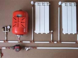 Монтаж системы отопления, частного дома, устройство теплых п