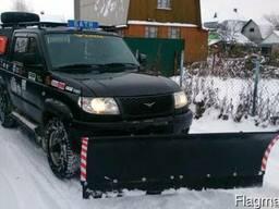 Отвал для чистки снега на УАЗ