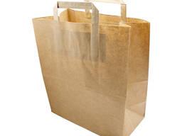 Пакет бумажный с плоскими ручками