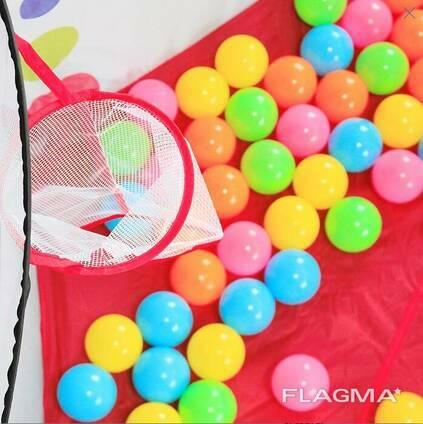 Палатка-манеж игровая детская с баскетбольным кольцом (50 шариков)