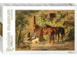 """Мозаика """"puzzle"""" 1000 """"Лошади у крыльца"""" Русские музеи new"""