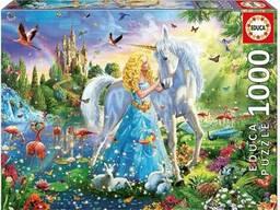 Пазл Educa, 1000 элементов - Принцесса и единорог