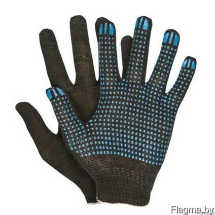 Перчатки х/б с ПВХ 5-нитка, 10 класс, волна
