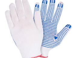 Перчатки трикотажные 10кл. с ПВХ точкой