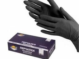 Перчатки виниловые М Черные Aviora