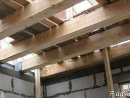 Перебор деревянных крыш, замена балок, перекрытий, кровля