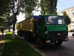 Перевозка щебня, кукурузы, комбикорма, зерна самосвалом МАЗ 551605