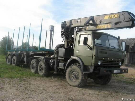 Перевозки лесоматериалов лесовозом КАМАЗ 4310