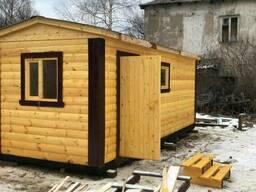 Перевозная баня 6х2.3м из бруса (три отделения)