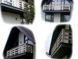 Перила балконные из массива Дуба. Размер, цвет, тематика рез