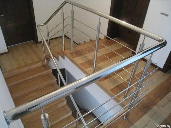 Перила для лестниц, балконов, пандусов. Поручни из нержавейки