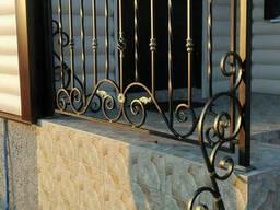 Перила кованые металлические на веранду, террасу, крыльцо