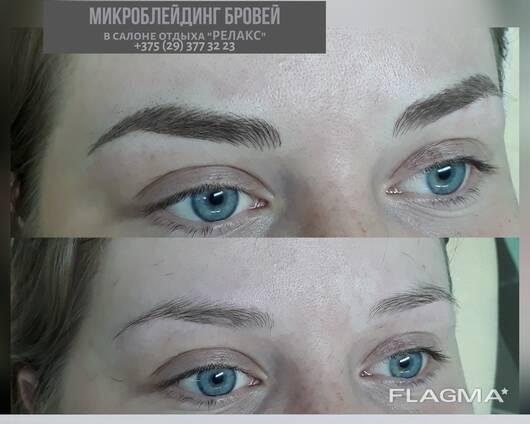 Перманентный макияж бровей (стрелки)
