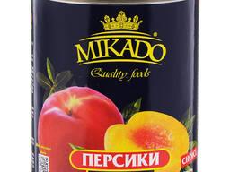 """Персики половинки в сиропе """"Микадо"""""""