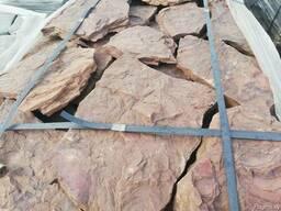 """Натуральный камень песчаник """"дракон красный"""" толщина 2-3 см."""