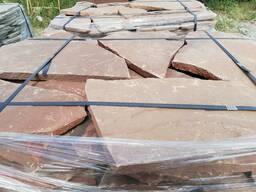 Натуральный камень песчаник красный 3 см