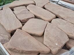 Натуральный камень песчаник красный галтованый 3 см