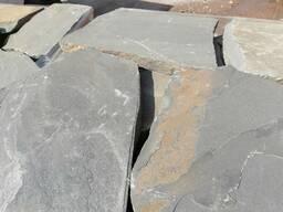 Песчаник синий крупноформатный (пошаговый) 5 -6 см