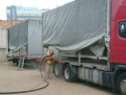 Пескоструйная обработка кузова грузовых авто